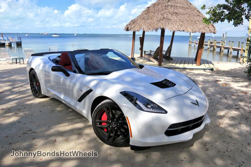The 2014 Corvette Stingray Convertible on the beach in the Florida Keys